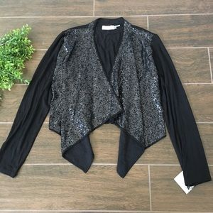 Calvin Klein sequin cardigan size Medium
